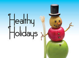 Healthy Holiday apple snowman